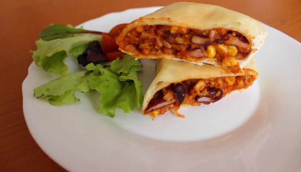 Rychlé burritos s fazolemi a rýží