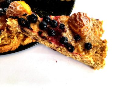 Bezlepkový koláč s ovocem